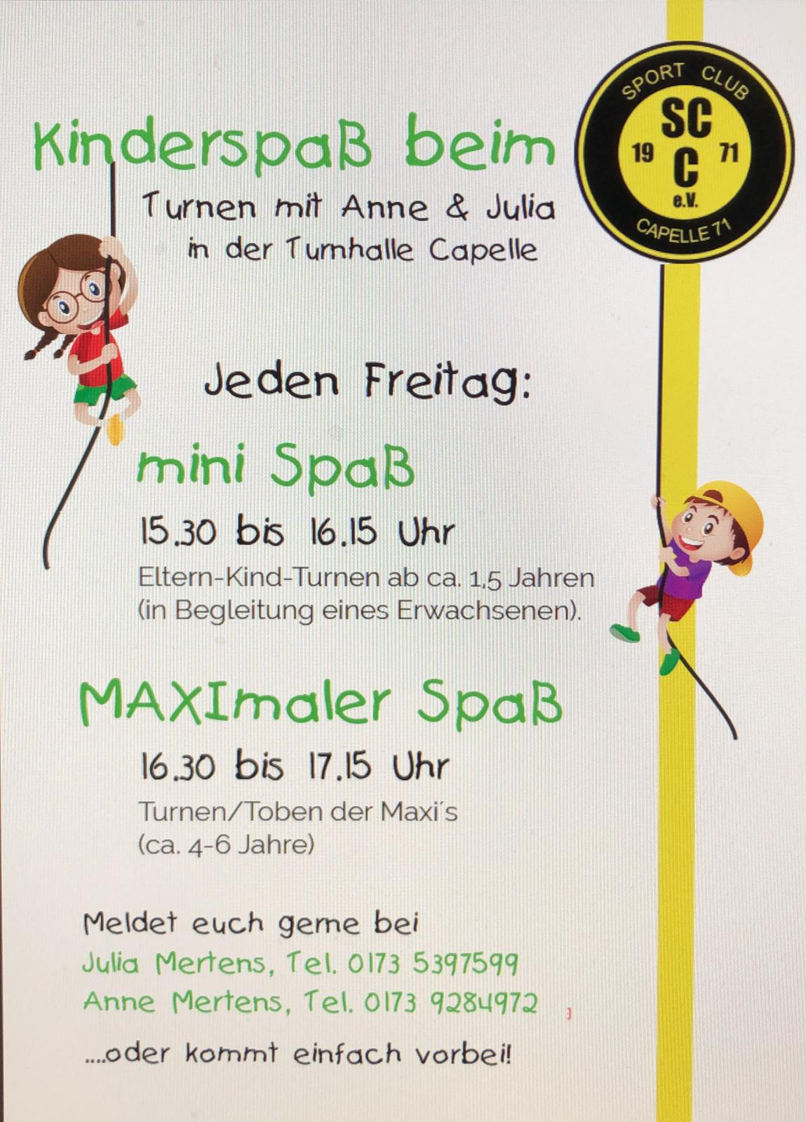 Flyer Kinderspaß 12.03.2019